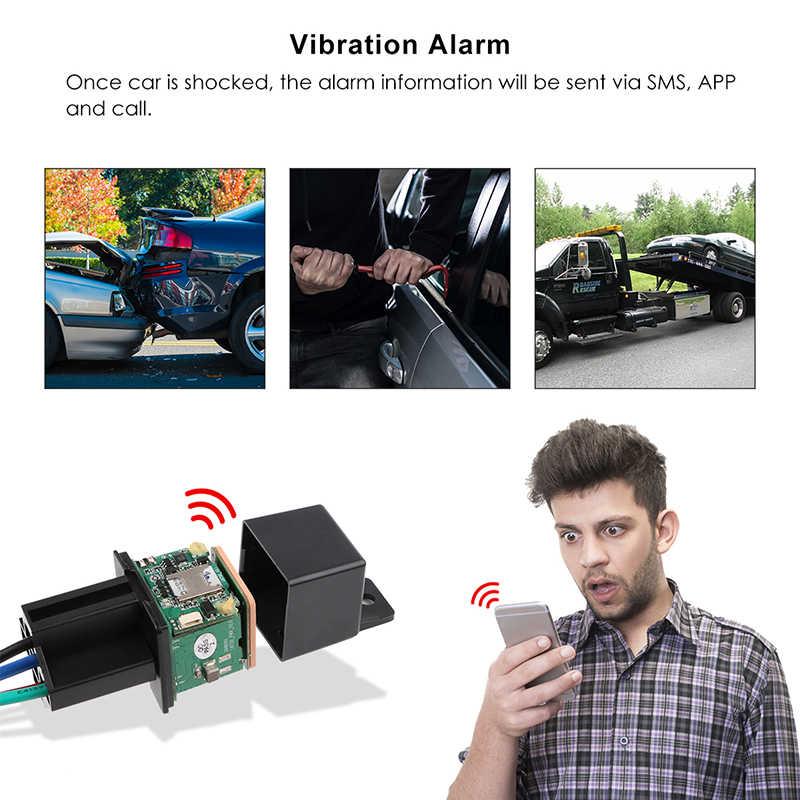 TKSTAR relais Mini traqueur GPS GSM voiture GPS localisateur coupé carburant conception cachée traqueur de voiture Google cartes suivi alarme de choc APP gratuite