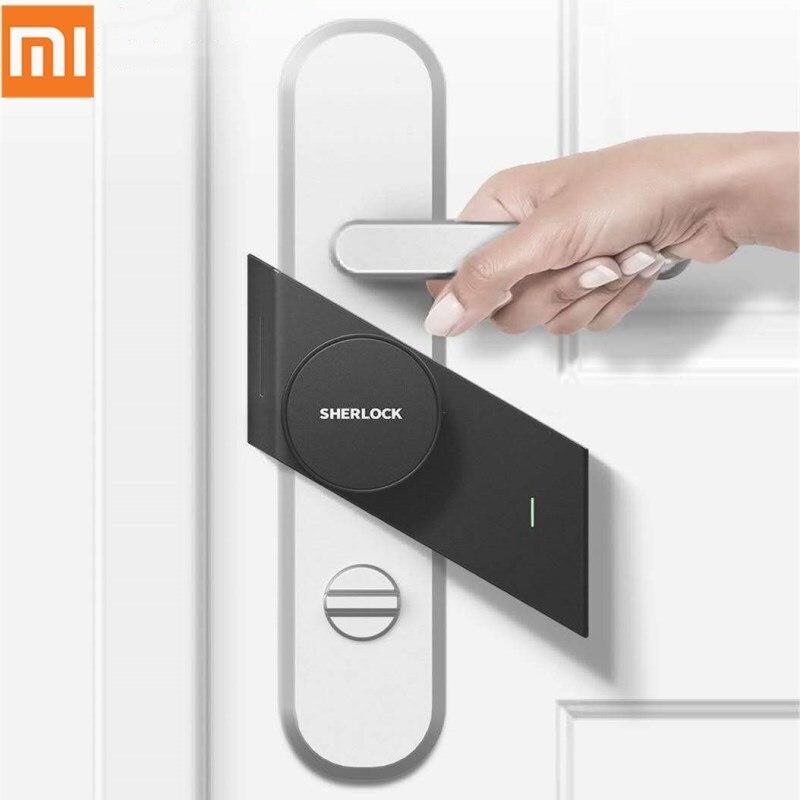 Reasonable Xiaomi Mijia Sherlock M1 Smart Stick Door Lock Keyless Fingerprint Touchable Switch Doorlock Mi App Control For Left/right Door Relieving Heat And Thirst.