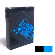 High Quality 54Pcs/Set Plastic PVC Poker Waterproof Black Playing Cards Creative Gift Durable Poker Yu-Gi Oh Entertainment Cards(China)