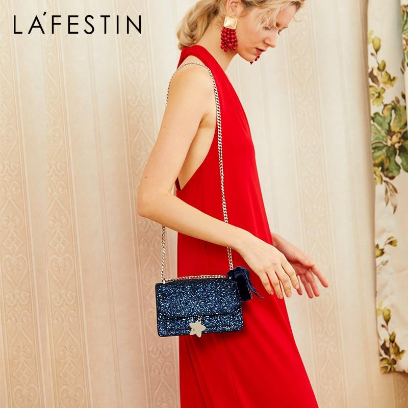 LA FESTIN Women's bag Fashion shoulder & crossbody bag Small sequin geometric bag