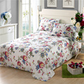 High Quality 100% Cotton White flowers Bed Sheets New Colorful Print Bedding sets Cartoon flowers Pattern 48*74cm pillowcase