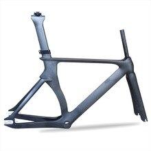 Чудо Aero трек углеродный руль для велосипеда рамка t700Carbon дорожная рама fixed gear Карбон трековая рама с вилкой Подседельный штырь 48,5/52/54/57 см