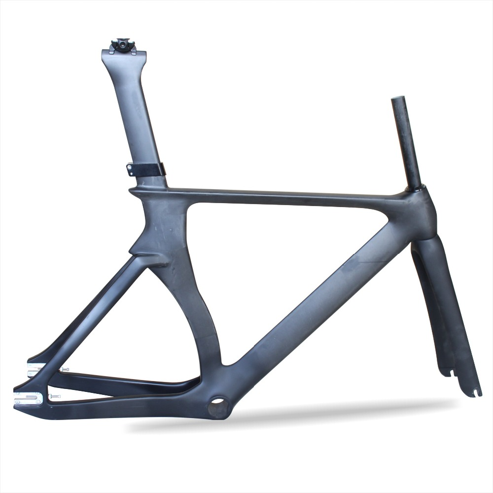 2018 MIRACLE Aero Track Bike Carbon Frame T700Carbon Road Frame Fixed Gear Carbon Track Frame With Fork Seatpost 48.5/52/54/57cm