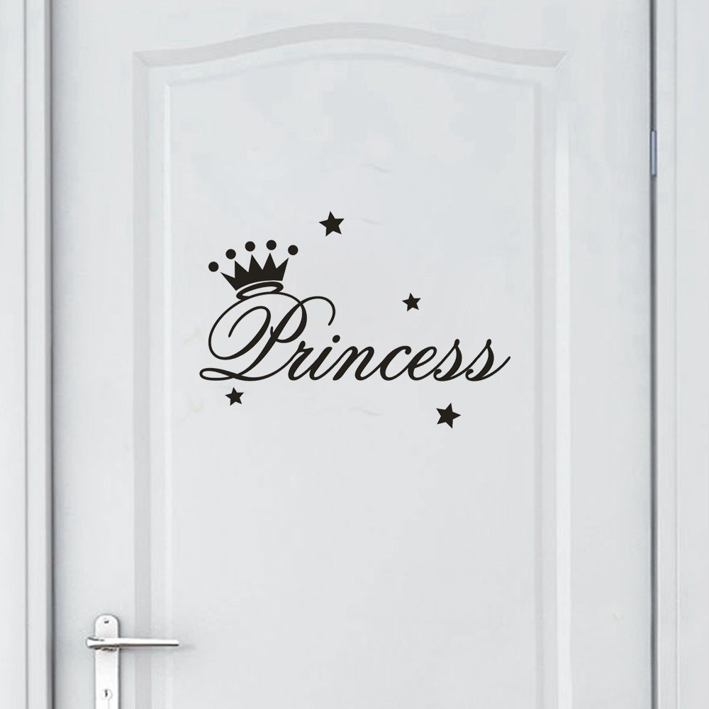 Princess removable letters art vinyl mural home room decor - Childrens bedroom wall stickers removable ...