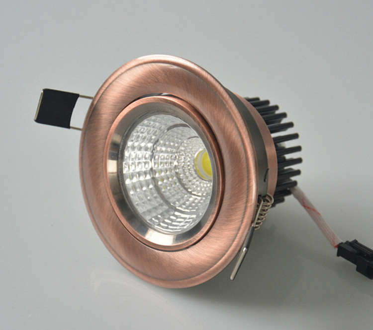 12PCS Free Shipping Dimmable LED Ceiling light Recessed led down light COB 10W 15W LED Spot light AC 110V 220V in Downlights from Lights Lighting