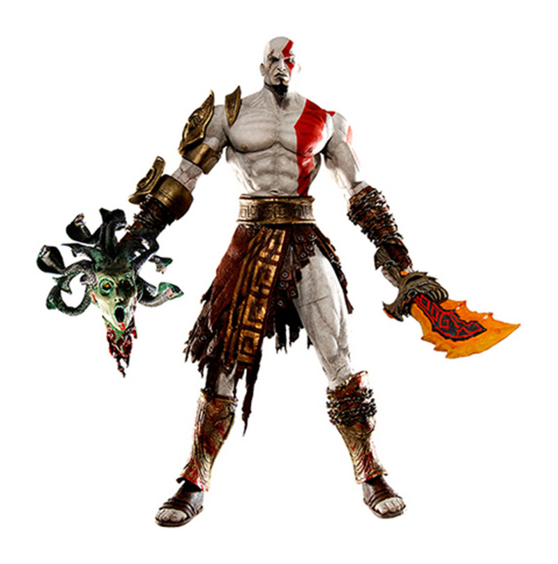 Us 16 32 27 Off New 1pcs God Of War Kratos In Golden Fleece Armor With Medusa Head Pvc Action Figure Collection Model Toys In Action Toy Figures