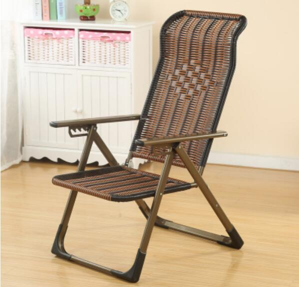 Outdoor Sun Lounger Folding Deck Chair Beach Leisure Cane Chair Balcony Office Rattan Chair chair