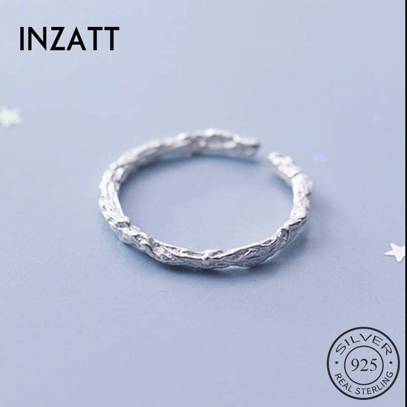 INZATT Real 925 Sterling Silver Vintage Branch Ring For Fashion Women Trendy Fine Jewelry MInimalist Accessories 2019 Gift