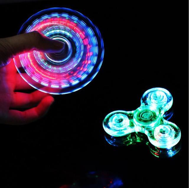 Новые акриловые подсветкой прозрачного хрусталя Непоседа счетчик стороны crystal Spinner анти-стресс флуоресцентный для взрослых дети весело