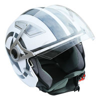 DOT Zwarte Ster 3/4 Open Gezicht Dual Vizier Motorhelm W/Shield Zon S/M/L/XL