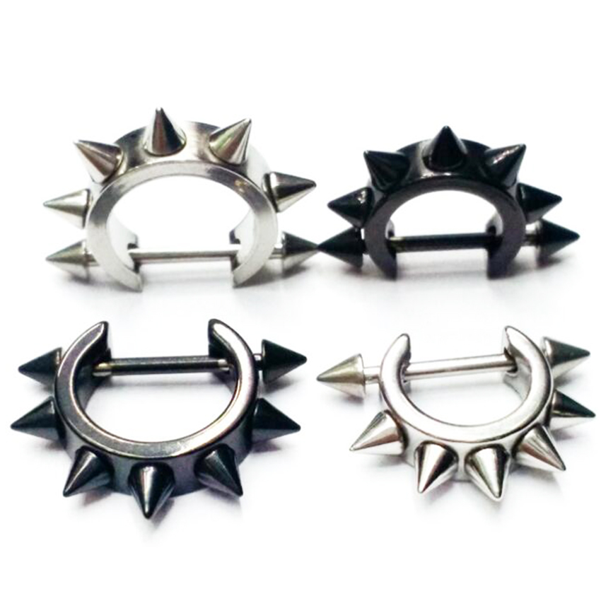1 Piece 14G Spike Cone Nipple Shield Rings Nose Body -2050