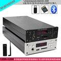 FX-AUDIO M-200E HiFi 2.0 Bluetooth Fone de Ouvido Amplificador de Áudio Digital 120 W + 120 W de Entrada USB/SD/RCA/FLAC 24Bit/192 KHz AC110-240V OLED