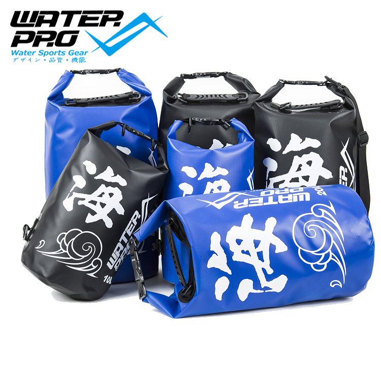 Water Pro Sea 10L Waterproof Dry Bag Black/Blue Camping Sailing Kayaking Canoeing Rafting Surfing