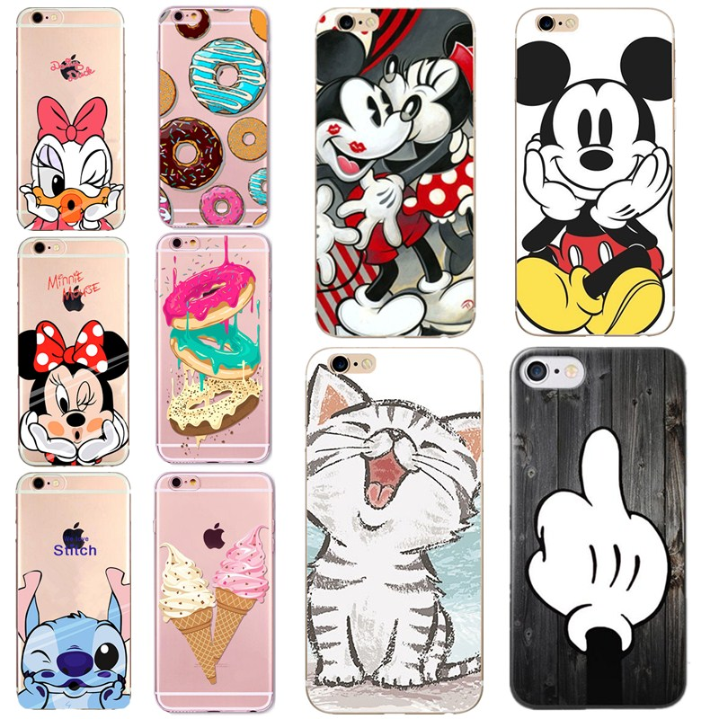 Silicone Soft Cute Cover Capa For Coque iphone 6 Case Cactus Lovely Pattern Funda Bags For iphone 5 se 5s 6s 7 8 7 plus
