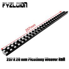 Hunting Accessories 257X20mm Picatinny Weaver Rail with 25 Slots Aluminum Alloy Rail for Hunting Airgun Air Rifle Scope Mounts все цены