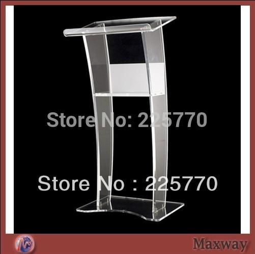 Free Shipping Beautiful Easy Cheap Detachable Acrylic Podium Pulpit Lectern plexiglass