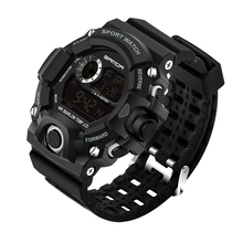 2018 SANDA Fashion Sports Digital Watch Men Diving Sport LED Clock for Men Waterproof Geneva Military Watches Relojes hombre 326 new led watch unique design silicone hand ring wristwatch for men s watches fashion digital watch relojes hombre 2017 clock