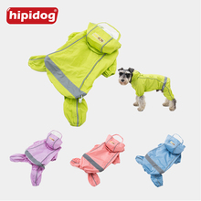 Hipidog Dog Translucent Hat Raincoat Clothes Puppy Hooded Waterproof Hoodies Rain Suit Overalls For Small Dogs Chihuahua