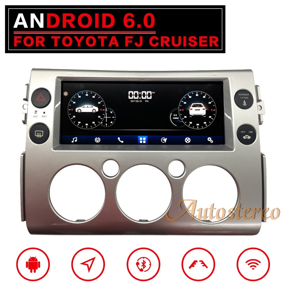 Pure Android Car GPS Navigation Car No DVD Player For Toyota FJ Cruiser Car Stereo Head unit SatNav multimedia auto 2 DIN radio klyde android 8 1 8 core car radio for 6 2 2 din toyota rav4 fj cruiser hiace ielas 1024 600 car multimedia player