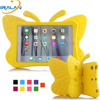 2018 new hot EVA Shockproof Case for iPad Mini   1     2   3 4 Cartoon Butterfly Stand   Tablet   Cover for iPad Mini Kids Safe Cases+pen