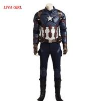 Captain America Steve Rogers Cosplay Costume Avengers Age of Ultron Hero Battle Suit Superman Uniform For Man Adult