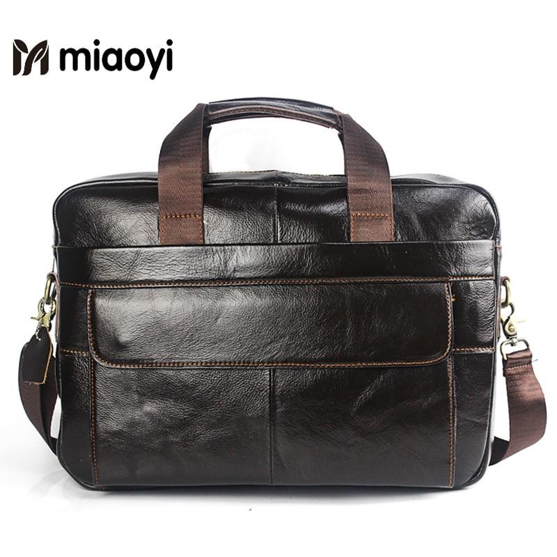 High Quality Leather Men Bag Men's Briefcase Handbag Messenger Shoulder Laptop Bags Genuine Leather Bag Men Briefcases цена