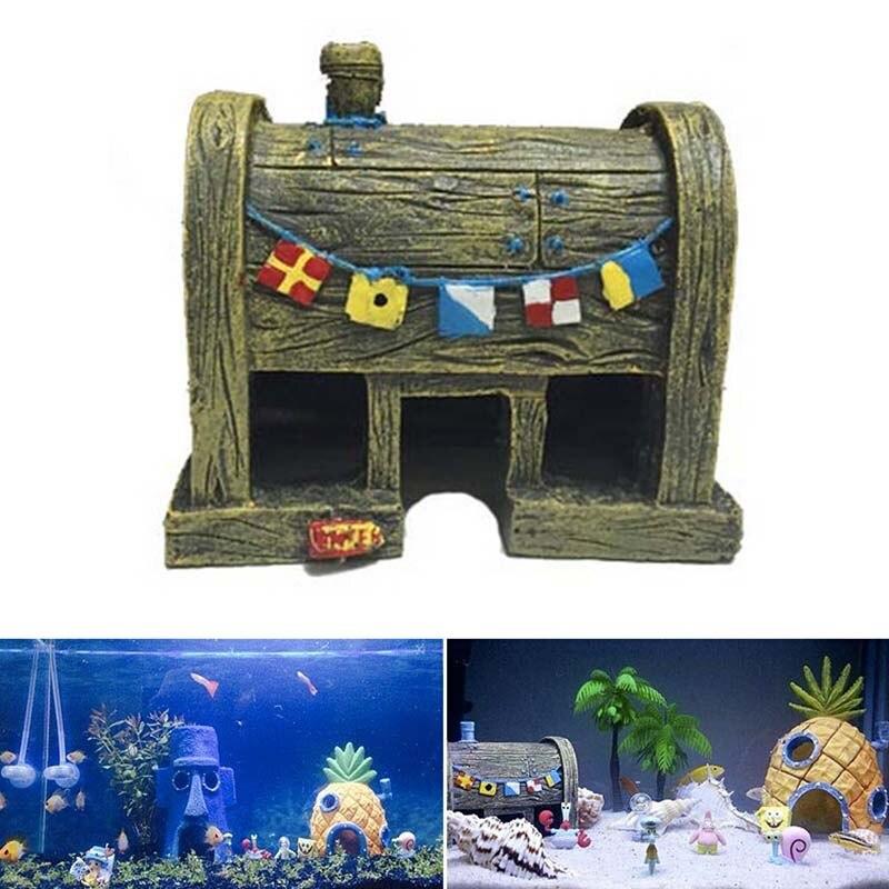 Fish Aquarium Decorations Krusty Krab Home Aquarium Decoration Resin Fish Ornament Decor Hot Sale China