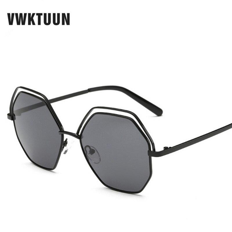 VWKTUUN Rodada Oversized Sunglasses Mulheres Círculo Oco Liga Quadro Marca  Designer Retro Óculos de Sol Mulher Óculos UV 400 Óculos 6479154d44