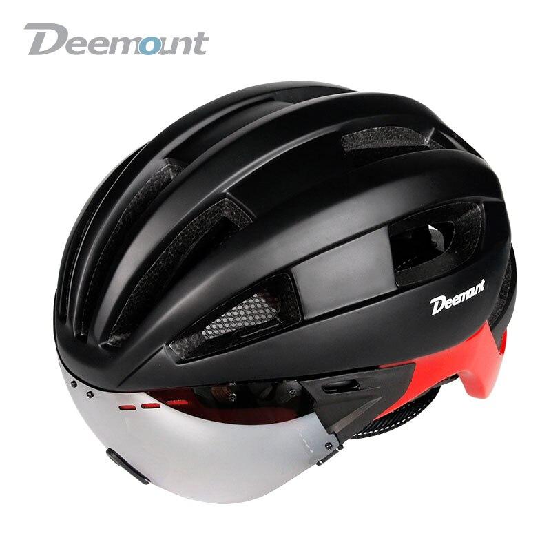 Deemount New Helmet W/ Google Lens for Cycling Biking Sports Wear Safety Device Head Protection 16 vents PC Shell EPS foam