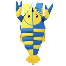 Unique Lobster Crab Child Nursery Bag Kids Backpack Waterproof Shoulder Bag Kindergarten Children Cartoon School Bags
