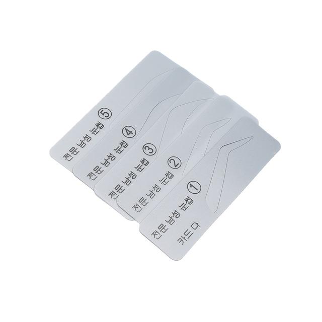 5 Types Pro Fashion Men Eyebrow Stencils Shaper Eye Brow Card Template Eye Brow Makeup Eye Grooming Tools Kit 3