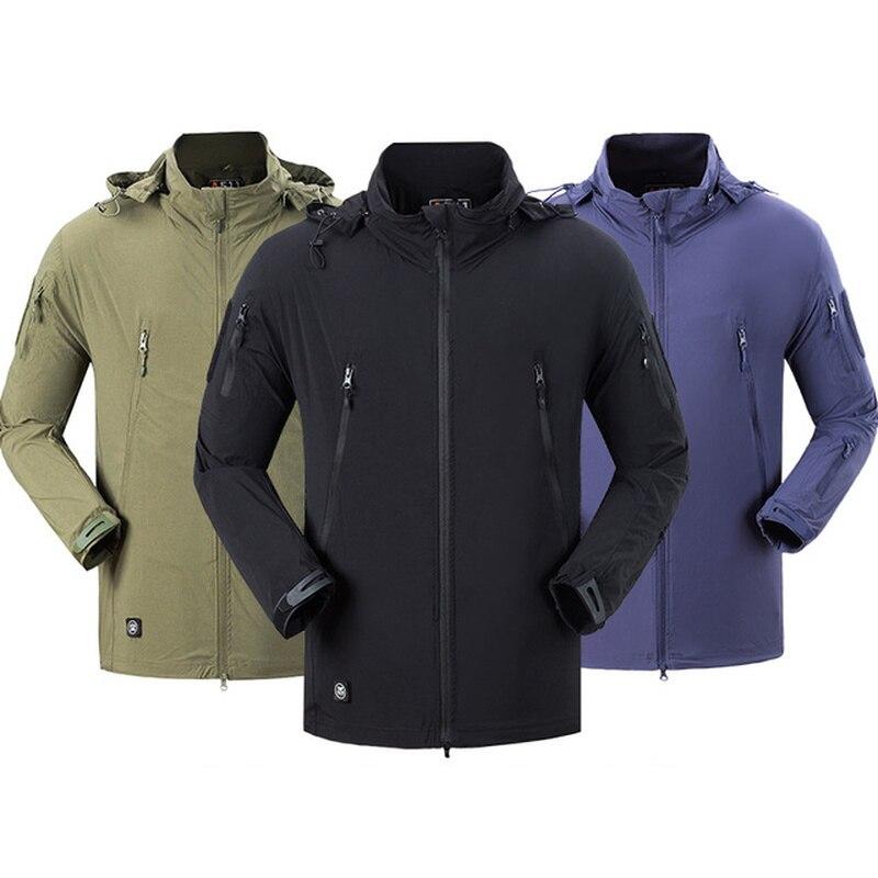 Hommes Camping randonnée veste haute qualité vêtements extérieur coupe-vent coupe-vent manteau