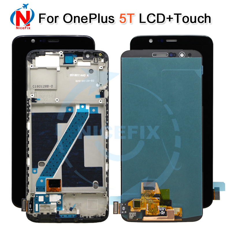2160x1080 6 01 For Oneplus 5T LCD Display Screen Touch Digitizer Panel Assembly with frame for