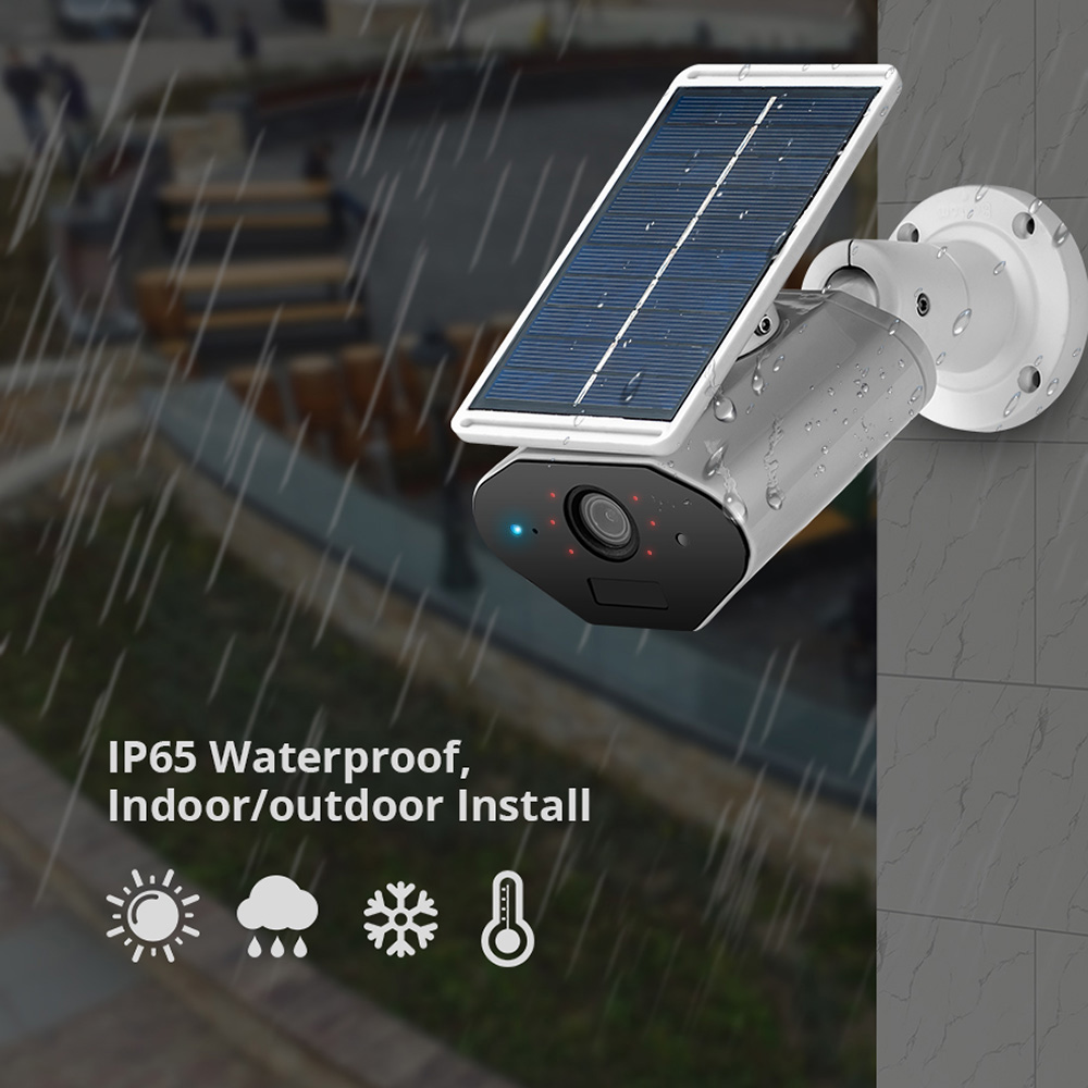 Image 5 - KERUI L4 Security Solar Camera Outdoor powered wireless IP camera wifi waterproof 1.3MP HD IR Night Vision Solar Battery Power-in Surveillance Cameras from Security & Protection