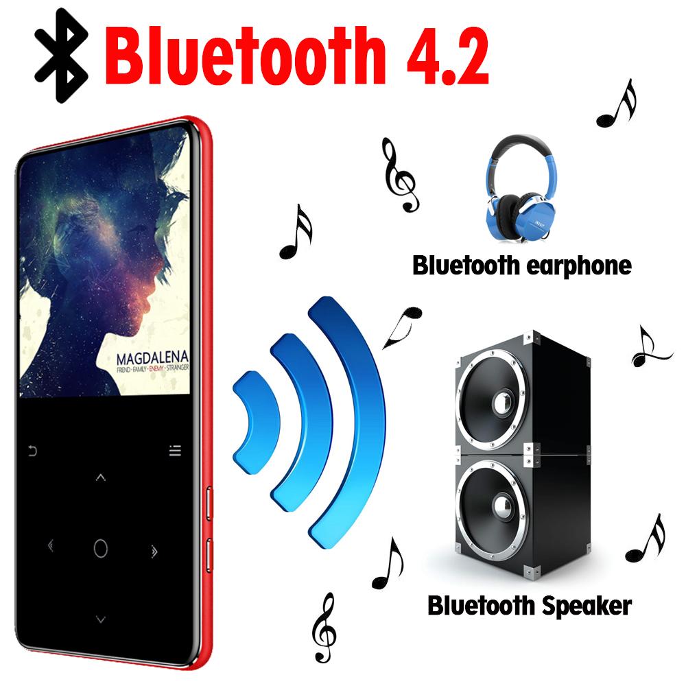 MP3 Player with bluetooth speaker touch keys hi fi fm radio mini USB mp3 sport MP 3 HiFi music player portable metal walkman 32G-in Lecteur MP3 from Electronique    2