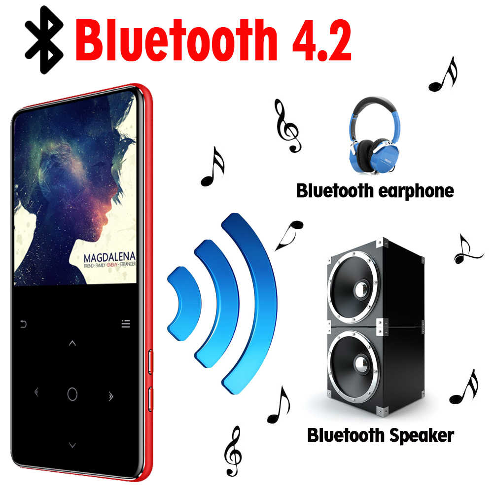 Odtwarzacz MP3 z głośnikiem bluetooth klawisze dotykowe hi fi radio fm mini USB mp3 sport MP 3 odtwarzacz muzyczny HiFi przenośny metalowy walkman 32G