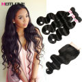 Mink Brazilian Hair With Closure Brazilian Body Wave With Closure 8A Brazilian Virgin Hair With Closure Cheap Human Hair Weave