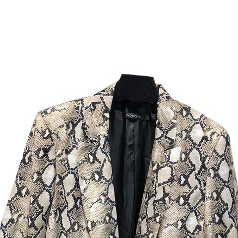 Spring Snake Print Blazer Women Vintage Suits Blazers Woman Long Sleeve Pocket Leopard Office Lady Jackets Karachi