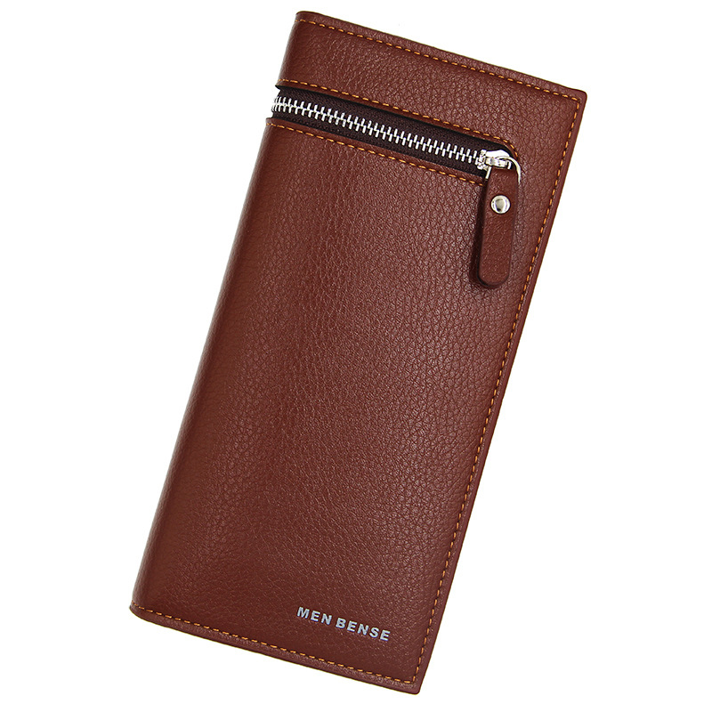 Brand Business Men wallets slim wallet long purse long male clutch leather card and coin holder mens money bag quality guarantee in Wallets from Luggage Bags