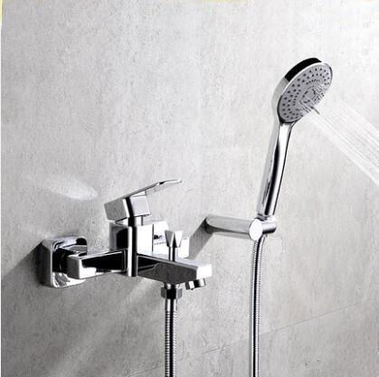 Bathroom handheld shower head faucet mixer water, Wall mounted ...