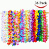 36 Counts Party Beach Tropical Flowers Necklace Hawaiian Luau Flower Lei Party Favors Festival Party Decorations