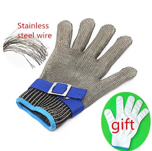 font b Safety b font glove Cut Proof Stainless Steel Metal Mesh Butcher Glove High