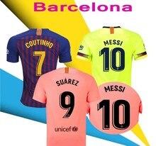 f1436df77920d 2018 Barcelona SUAREZ O.DEMBELE Jerseys 2018 2019 Camisas Coutinho Messi  INIESTA PIQUE Soccer Jersey