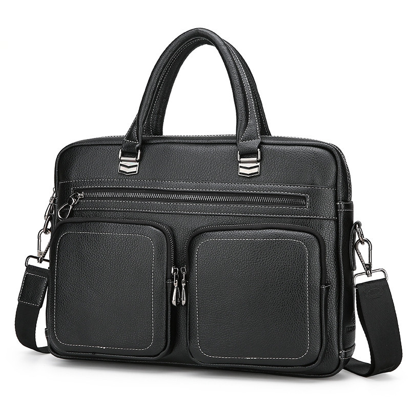 Men's Briefcase Computer-Bag Business Tote Casual Luxury New Boy Male Fashion