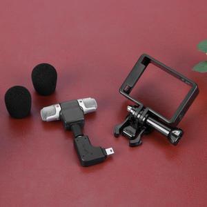 Image 5 - Alloyبالدخول ميكروفون صغير ستيريو 3.5 مللي متر الرياضة عمل كاميرا اكسسوارات Mic ل GoPro بطل 3/3 +/4 مع USB صغير إلى 3.5 مللي متر محول