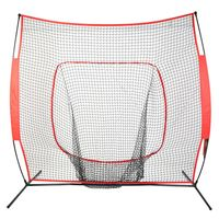 7*7 Softball Baseball Practice Net with Bow Frame Compact Carrying Bag Softball Training Net Outdoor Sports Training