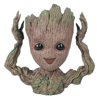 Original baby groot Guardians Of The Galaxy Flowerpot Baby Action Figures Cute Model Toy Pen Pot Best Gifts Kids Home Decoration