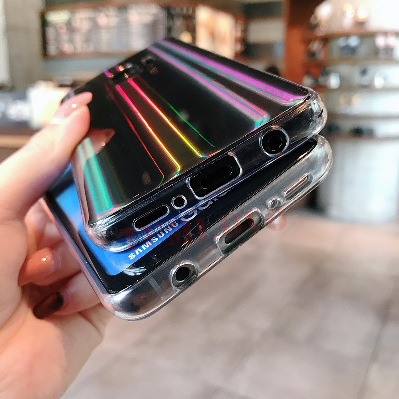 Rainbow Glitter Phone Samsung Galaxy J3 J5 J7 A3 A5 A7 S8 S9 Plus S7 S6  Edge Soft TPU Silicone Cover