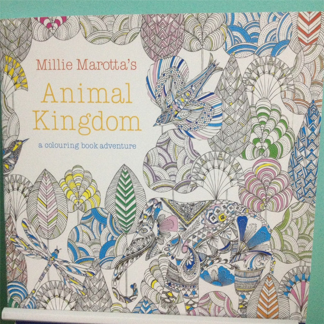 Coloring Books Animal Kingdom : Aliexpress.com : Buy 24 Pages Animal Kingdom English Edition Antistress Coloring Book For ...