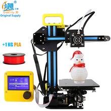 CREALITY 3D Дешевые 3D Принтер Мини 3d-принтер CR-7 Экструзии Алюминия 3D Принтер DIY kit С 1 КГ PLA Нити Подарок Для дети